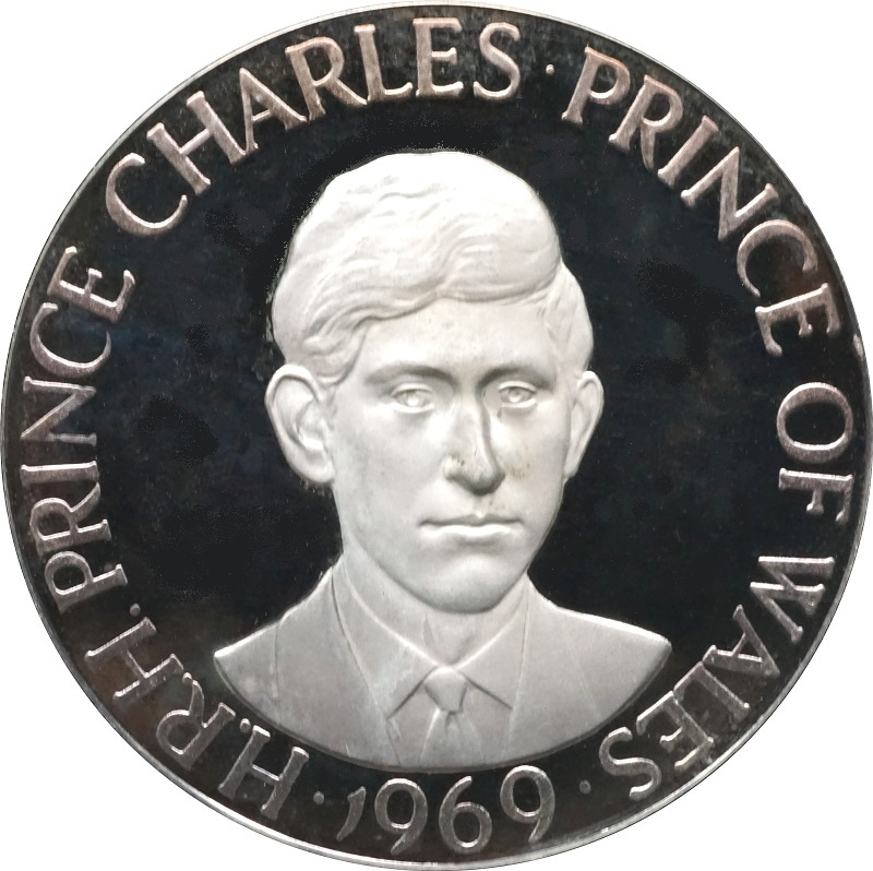 1969 Prince Of Wales Investiture Silver Proof Medal Afdc