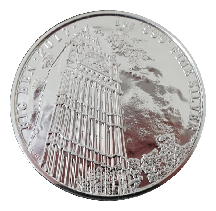 2017 Royal Mint 1 oz Big Ben Landmarks of Great Britain £2 Two Pound Silver coin